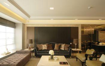 清新素丽黑色背景墙设计