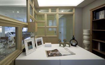新古典书房屏风隔断装饰设计图片