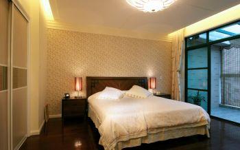 卧室白色背景墙中式风格装饰效果图