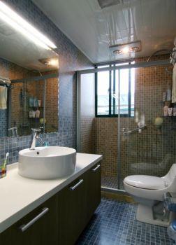 卫生间灰色背景墙中式风格装潢效果图