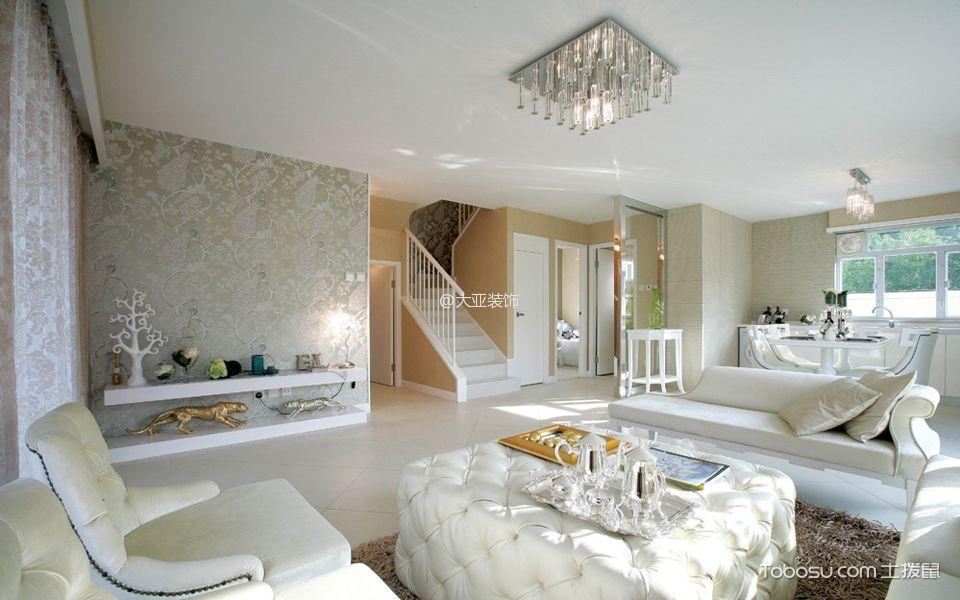 客厅 楼梯_简欧风格160平米复式装修效果图