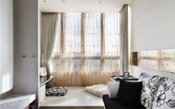 阳台黄色榻榻米现代简约风格装饰设计图片