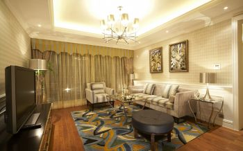 现代风格90平米三居室装修效果图