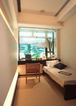 卧室白色吊顶现代简约风格装修图片