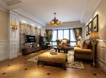 美式风格160平米套房装修效果图