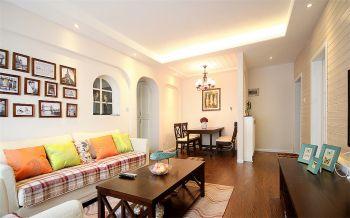 美式风格80平米小户型房子装修效果图