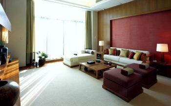 现代中式风格160平米别墅室内装修效果图
