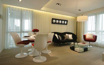 现代简约风格70平米一居室装修效果图