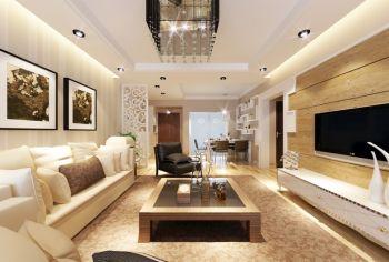 现代风格80平米二居室房子装修效果图