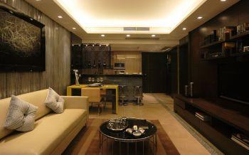 现代简约风格80平米二居室房子装修效果图