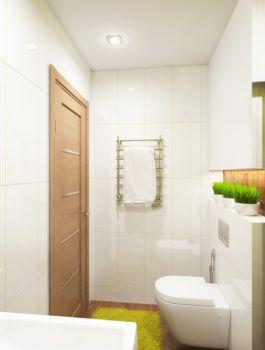 卫生间白色背景墙简约风格效果图