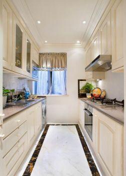 厨房白色背景墙欧式风格装潢图片