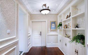 玄关白色走廊欧式风格装饰设计图片
