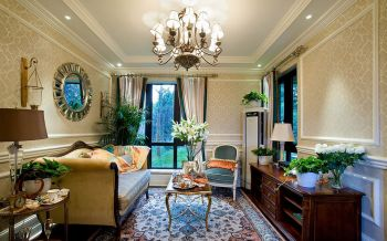 欧式风格80平米二居室房子装修效果图
