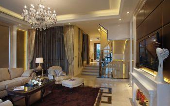 客厅白色细节美式风格装修效果图
