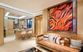 现代简约风格100平米二居室房子装修效果图