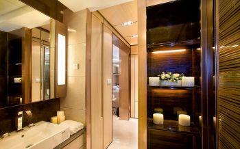 卫生间白色背景墙现代简约风格装饰效果图