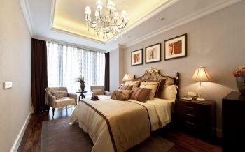 卧室灰色背景墙欧式风格装潢效果图