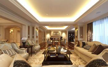 客厅黄色沙发欧式风格装潢图片