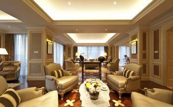 客厅黄色沙发欧式风格装修设计图片
