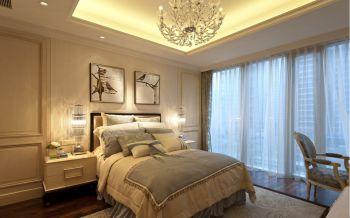 卧室白色窗帘欧式风格装潢设计图片