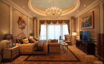 卧室黄色窗帘欧式风格装潢图片