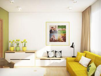 潮流彩色照片墙装修案例图片