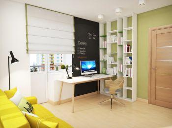 现代6平米书房装潢实景图