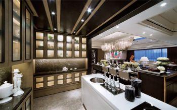 厨房白色走廊现代简约风格装潢设计图片