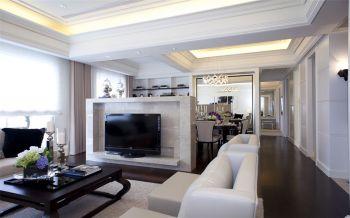 7.5万装修预算100平米三室一厅装潢效果图欣赏