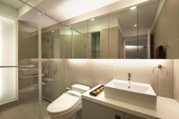 卫生间白色吊顶现代简约风格装饰效果图