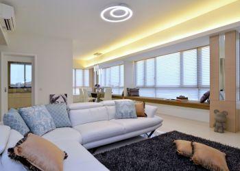 客厅白色细节简约风格装饰图片