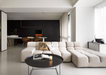 现代简约风格90平米二居室装修效果图