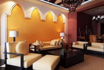 东南亚风格100平米三居室装修效果图
