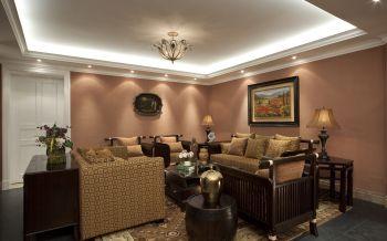 现代中式风格110平米两居室装修效果图