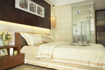 卧室白色背景墙中式风格装潢设计图片