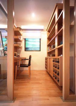 书房黄色书桌现代简约风格装潢图片