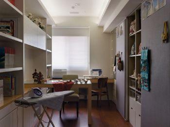 书房白色吊顶现代简约风格装修图片
