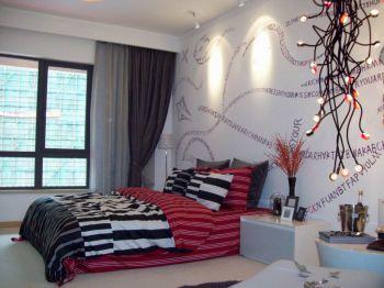 后现代简约风格100平米二居室房子装修效果图