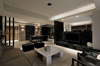 现代简约风格160平米三居室新房装修效果图