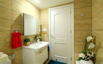 卫生间黄色背景墙现代风格装修效果图
