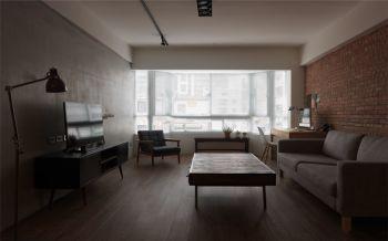 后现代工业风格120平米三居室新房设计效果图