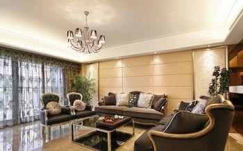 现代风格110平米三居室新房装修效果图