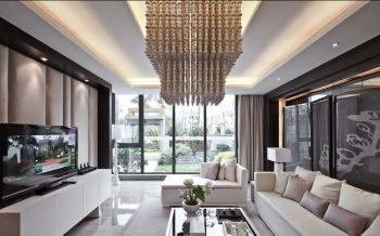 现代中式风格110平米三居室新房装修效果图