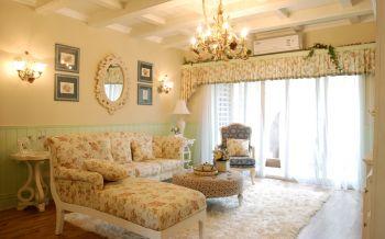 欧式田园混搭风格160平米三居室新房装修效果图