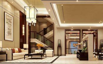 现代中式风格180平米大别墅室内装修效果图