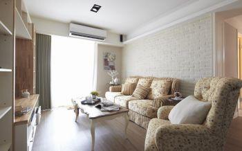 田园风格80平米两居室装修效果图