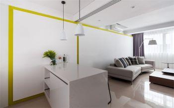 客厅白色吧台简约风格效果图