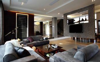 现代风格168平米复式别墅装修效果图