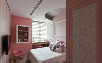写意小户型现代简约粉色背景墙案例图片